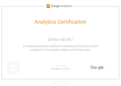 Analytics Certification Diana Negru