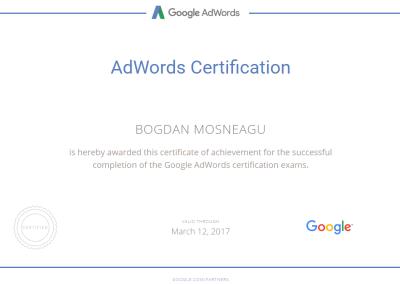 Certification Bogdan Mosneagu